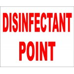 DISINFECTION POINT SIGN