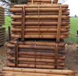 CREOSOTED POSTS 5 ft x 4 inch machined (105 bundle)